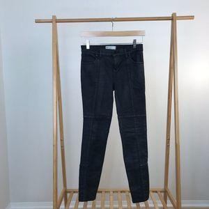 Free People • Coated Jillian Skinny Pant Black 26